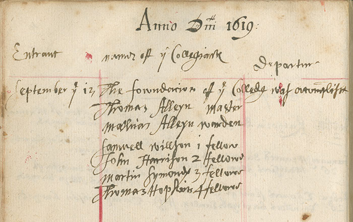 First Thomas Alleyn appointed Master