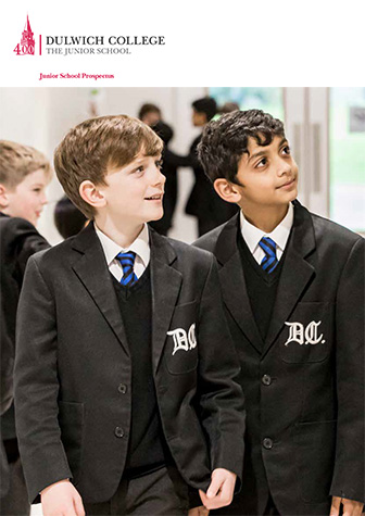 Dulwich College Junior School Prospectus front cover