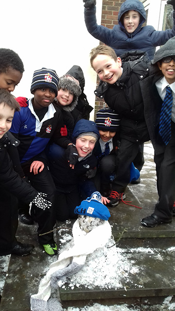 Let it Snow, Let it Snow: Junior School Boys Enjoy the First Fall of Snow
