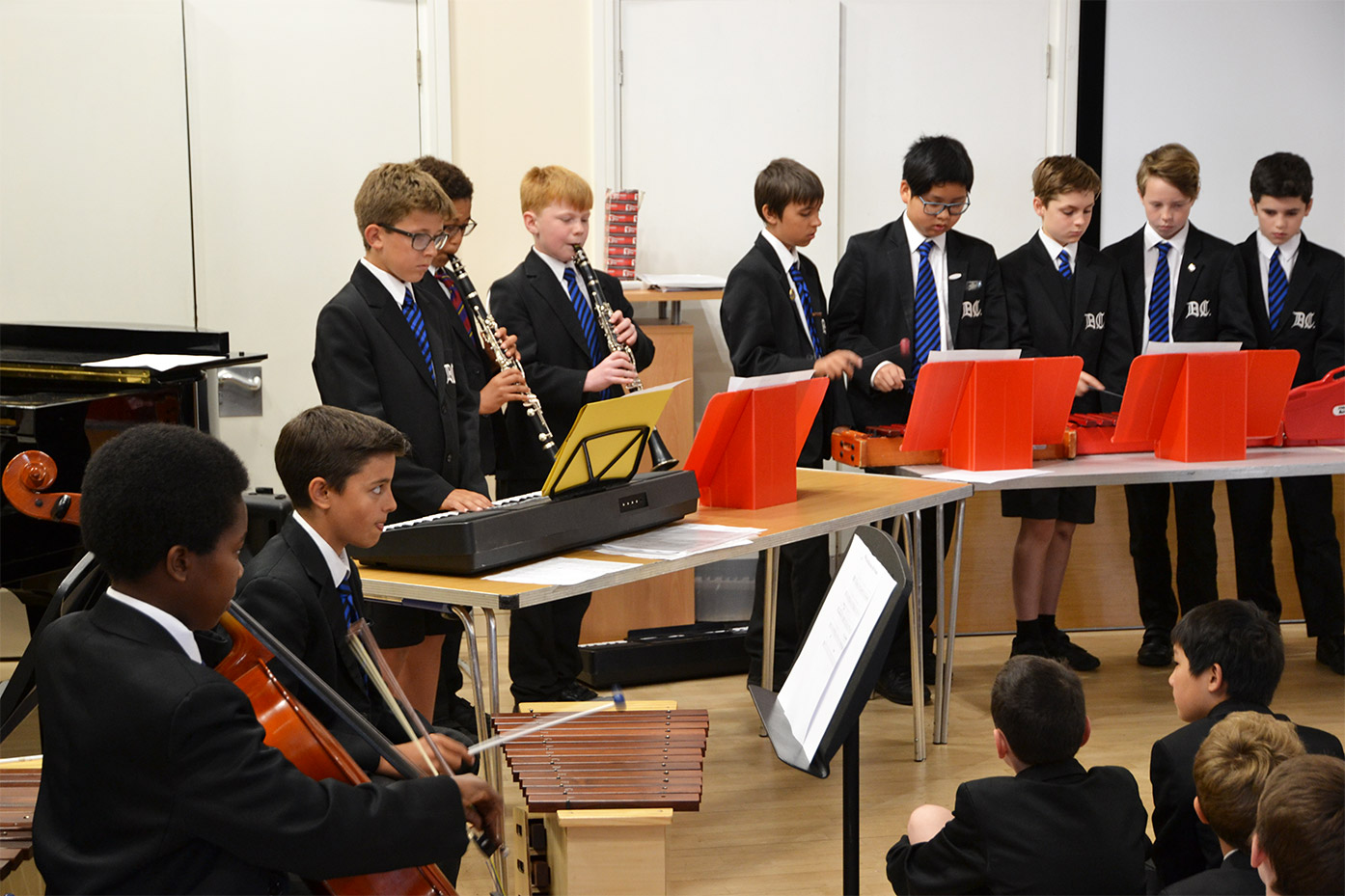 Year 6 Music Assembly in the Junior School Hall