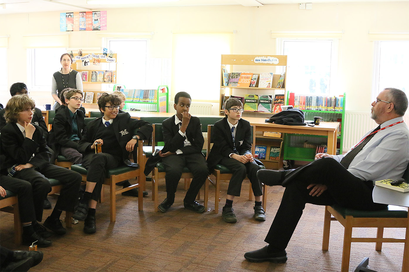 Lower School Lunchtime Author Talk from Alan Gibbons