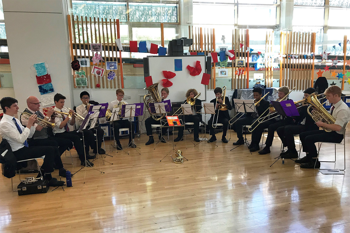 Dulwich College Brass Consort visits Livity School in Streatham