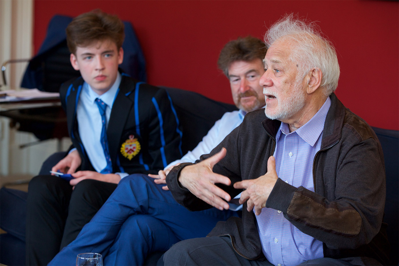 Upper School English students meet Michael Ondaatje