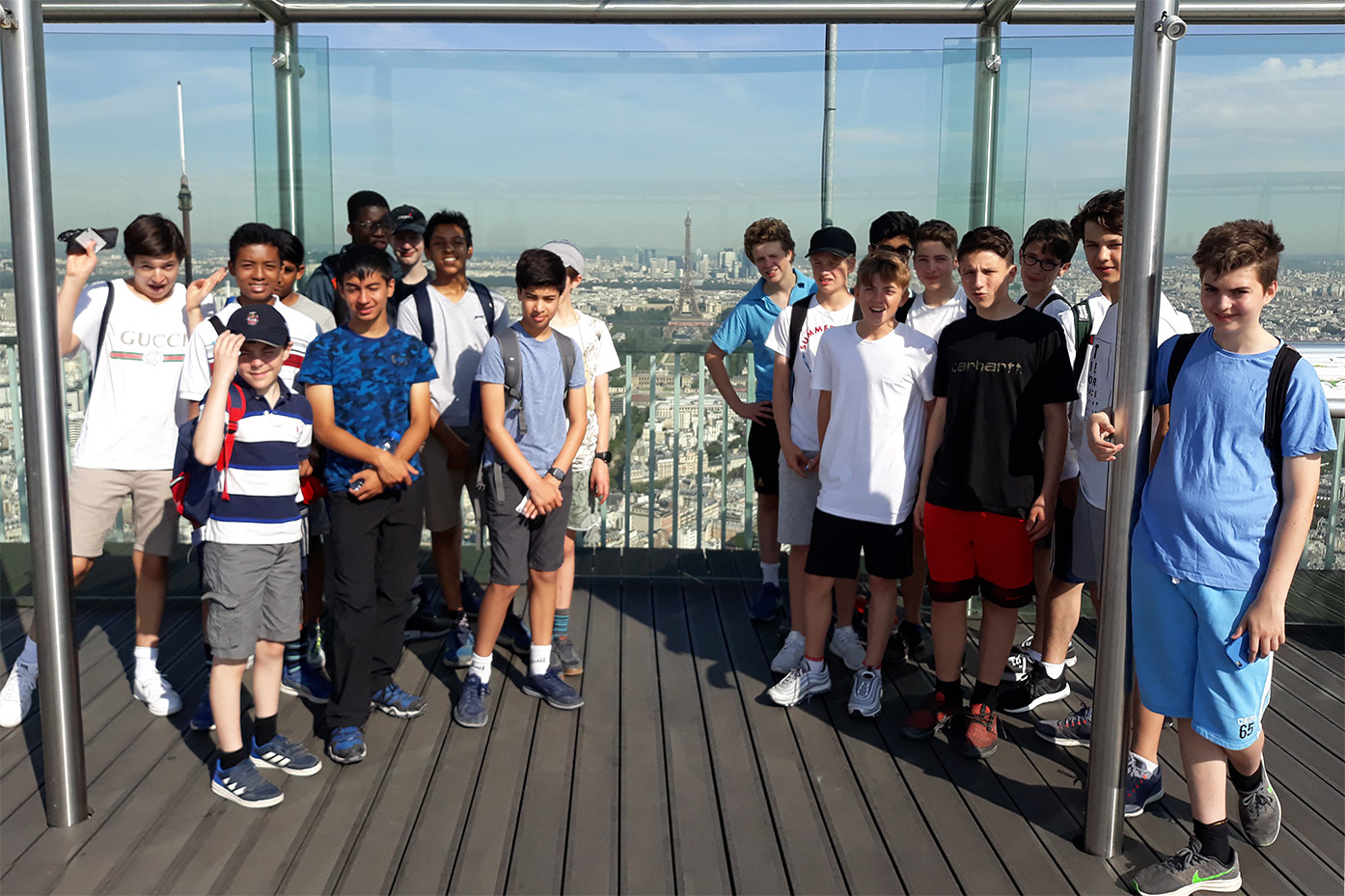 Year 9 visit Paris to practise their French