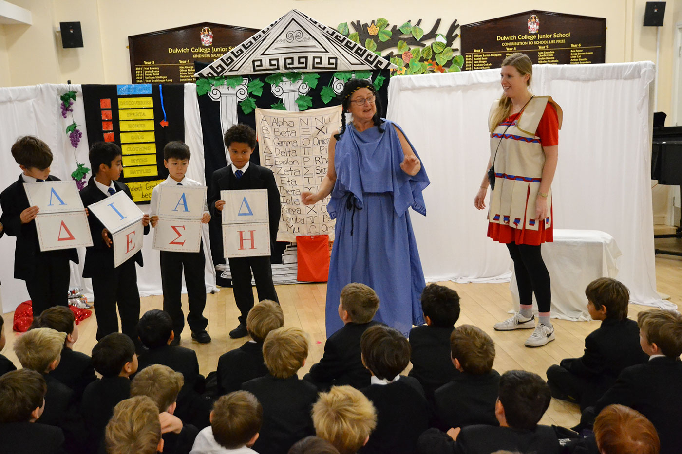 Year 3 boys learn about Ancient Greece
