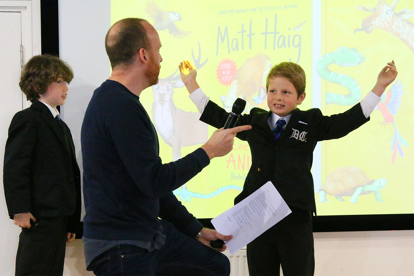Bestselling author Matt Haig visits the Junior School