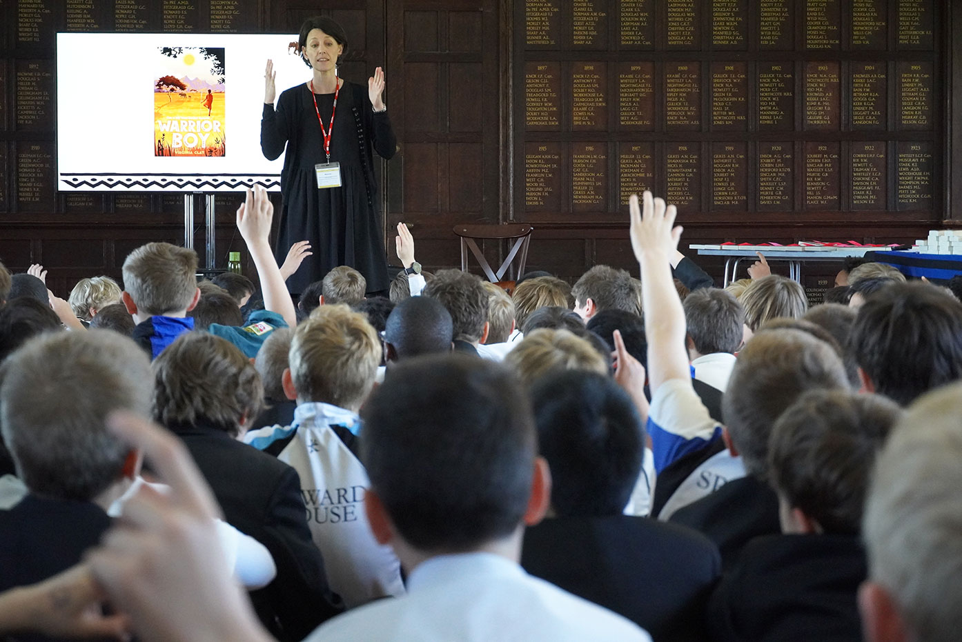 Author Virginia Clay inspires Junior School boys