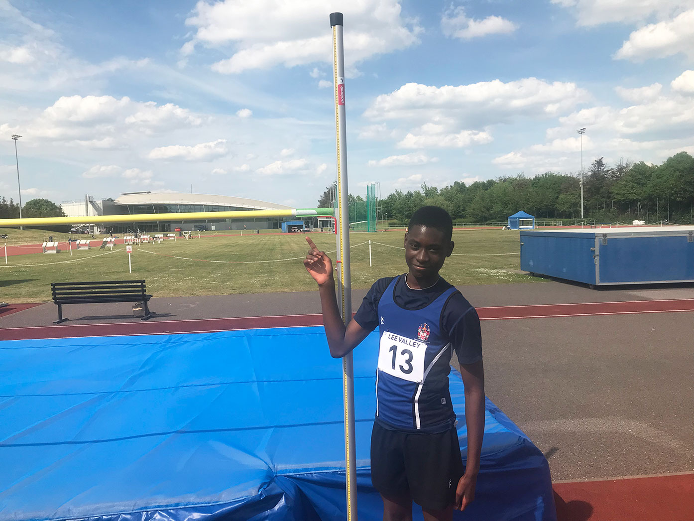 1.80m high jump equals personal best and breaks Year 9 school record
