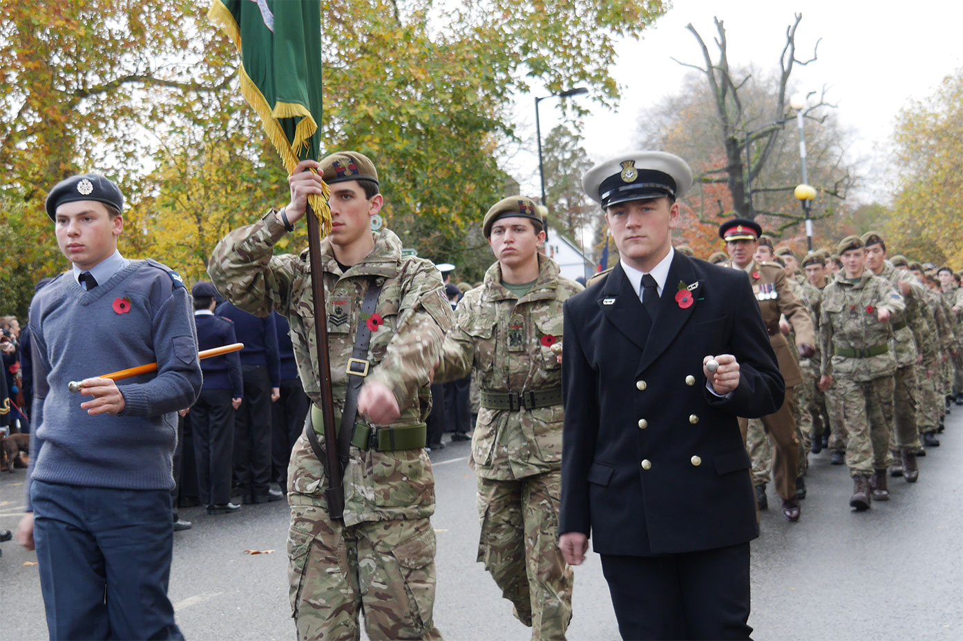 Armistice Day is marked at the Old College War Memorial