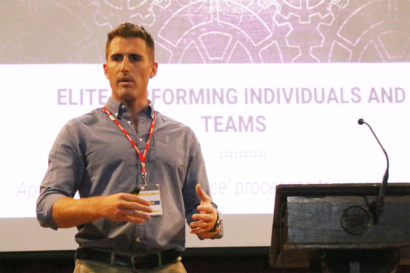 Founder of Foundation Performance speaks to sport High Performance Programme students