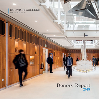 Donors' Report 2018 front cover